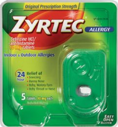 8 Units of Zyrtec 10Mg Tabs 5Ct - Medical Supply