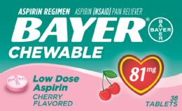 12 Units of Bayer Child Chew Asprn Chr 36S - Pain and Allergy Relief