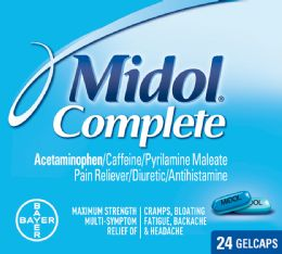 12 Units of Midol Menstrual Cplt 24S - Pain and Allergy Relief