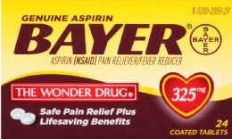 6 Units of Bayer Aspirin 24Ct Tab 325 Mg - Pain and Allergy Relief