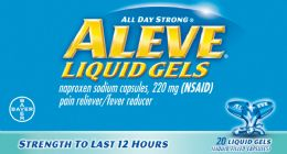 6 Units of Aleve Liquid Gels 20Ct - Pain and Allergy Relief