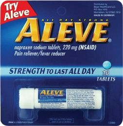 12 Units of Aleve 10Ct Vial - Pain and Allergy Relief