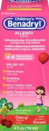 6 Units of Benadryl Allergy Liq Cherry 4Z - Medical Supply