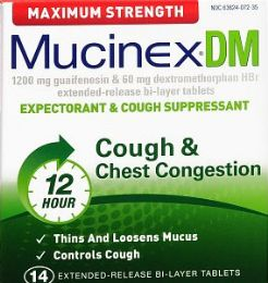 6 Units of Mucinex Dm Max Strngth 14Ct - Medical Supply