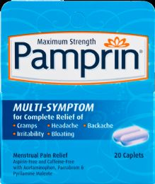 6 Units of Pamprin Multisymptom Relf 20Ct - Pain and Allergy Relief