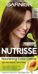 6 Units of Garnier Nutrisse Nourishing Hair Color Creme, 50 Medium Natural Brown (truffle), 1 Kit - Hair Products