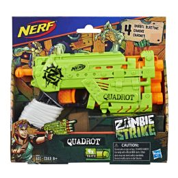 4 Units of Nerf Zombie Strike Quadrot - Toy Weapons