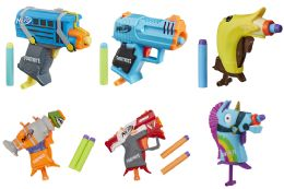 12 Units of Nerf Microshots Fortnite Blasters Assorted - Toy Weapons