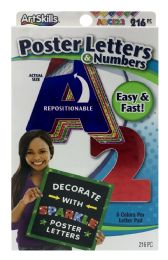 12 Units of Artskills Poster Letters & Numbers - Arts & Crafts