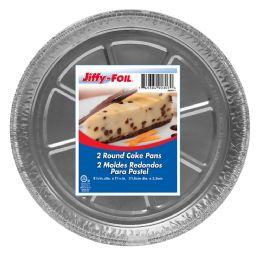 50 Units of Jiffy Foil 8 Inch Round Cake Pans 2ct - Pots & Pans