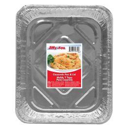 44 Units of Jiffy Foil Casserole Pan W/lid - Pots & Pans