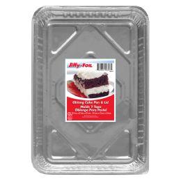 32 Units of Jiffy Foil Oblong Cake Pan W/lid - Pots & Pans
