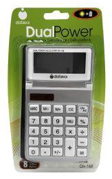 10 Units of Datexx Dualpower Calculator Dh-168 - Calculators