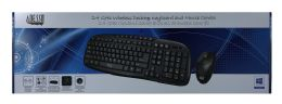 4 Units of Adesso 2.4 Ghz Wireless Desktop Keyboard And Mouse Combo - Computer Accessories