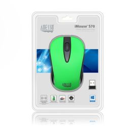 4 Units of Wreless Optical Neon Grn Mouse - Computer Accessories