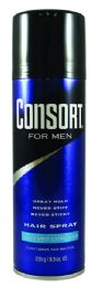 6 Units of Consort Hairspray For Men Unscented Extra Hold 8.3 Oz - Shampoo & Conditioner