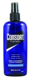 8 Units of Consort Non-Aerosol Hair Spray For Men Unscented Extra Hold 8 Fl Oz - Shampoo & Conditioner