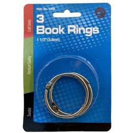 24 Units of Avantix Book Rings 1.5 Inch 3ct - Office Accessories