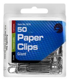 24 Units of Ava Giant Paper Clips, 50 Count - Paper clips