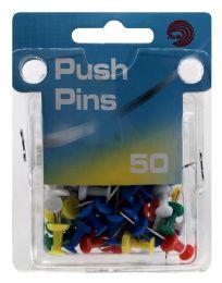 24 Units of Ava Push Pins Assorted Colors 50 Count - Push Pins and Tacks