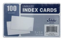 24 Units of Ischolar Unruled Index Cards Count 100 - Dividers & Index Cards