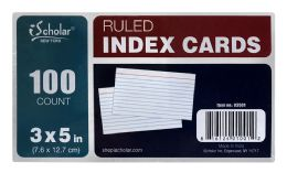24 Units of Ischolar Ruled Index Cards 3 Inch X 5 Inch, 100 Ct - Dividers & Index Cards
