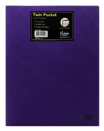 72 Units of Ischolar Twin Pocket Poly Portfolio - Office Accessories