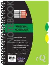 12 Units of Spiral Iq Personal 7x5 100ct - Note Books & Writing Pads