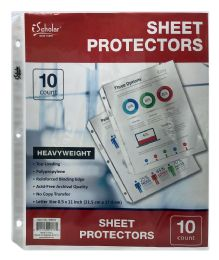 24 Units of Ischolar Poly Sheet Protectors, Top Loading, 8.5 X 11 Inch, 10 Ct - Office Supplies