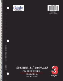 16 Units of Spiral 3 Sub Cr 120Ct 10.5X8 - Note Books & Writing Pads
