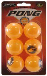 6 Units of Ping Pong Balls Orange 6 pk - Seasonal Items