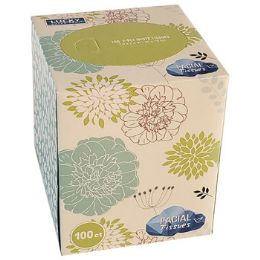 12 Units of Facial Tissue 100 Count 2 Ply - Skin Care