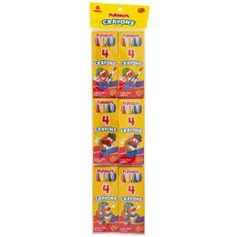48 Units of Playskool Crayon 6x4ct Packs - Crayon