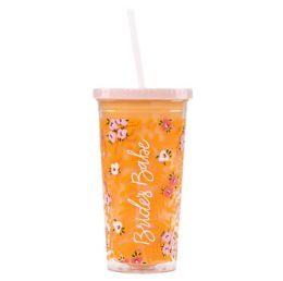 12 Units of Tumbler 20oz W/straw Acrylic - Drinking Water Bottle