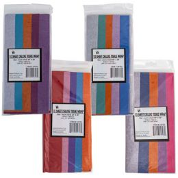 72 Units of Tissue 10sheet 5 Step Shortfold Asst Color Combos Party Label - Gift Wrap