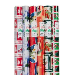 48 Units of Gift Wrap Christmas 85 Sq Ft 1.5in Core Asst Designs Ppd$6.99 - Gift Wrap