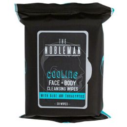 24 Units of Face & Body Mens Wipes 30ct Cooling Nobleman In 24pc Pdq - Personal Care Items