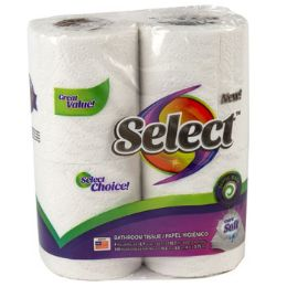 24 Units of Bathroom Tissue 4pk 150ct 2 Ply Select Poly Wrap - Tissues