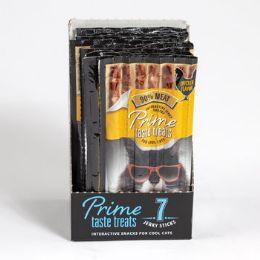 10 Units of Cat Treat 7pk Prime Taste Jerky Chicken Flavor 35g In Cnt Dspl - Pet Chew Sticks and Rawhide