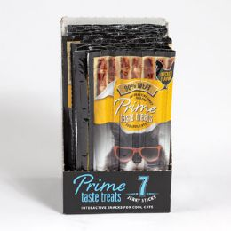 10 Units of Cat Treat 7pk Prime Taste Salmon Flavor 35g In Counter Display - Pet Chew Sticks and Rawhide