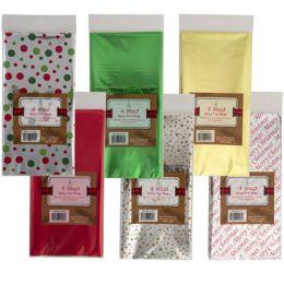 48 Units of Tissue Mylar 4ct 6asst - Gift Wrap