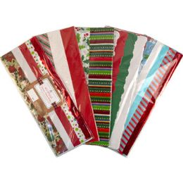 36 Units of Tissue Paper Deluxe 40sht Xmas - Party Paper Goods