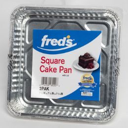 18 Units of Aluminum Square Cake Pan W/lid - Aluminum Pans