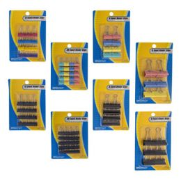 48 Units of Binder Clips 4sizes 2 Strip Blk - Clips and Fasteners