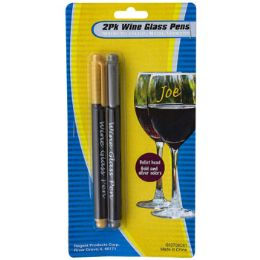 36 Units of Marker 2pk Wine Glass Pen Gold/ - Markers