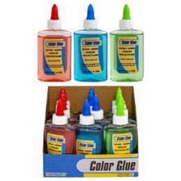 36 Units of Glue 3.8oz 3ast Color 12pc Pdq Nontoxic Washable - Glue