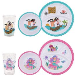 144 Units of Dinnerware Kids 144pc Shipper Mermaid/pirate Bowl/cup/div Plt - Kitchen & Dining