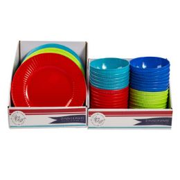 48 Units of Dinnerware Melamine Plate/bowl - Kitchen & Dining