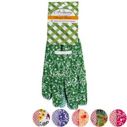 36 Units of Garden Gloves Ladies Poly W/pvc - Gardening Gloves