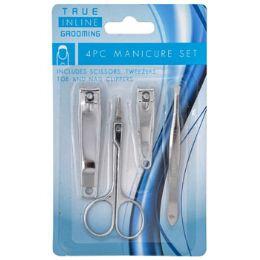 72 Units of Manicure 4pc Set Tweezers/ - Scissors and Tweezers